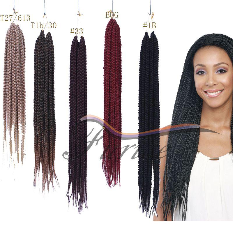 Aliexpress Buy Box Braids Hair Crochet 24 18 Crochet Hair