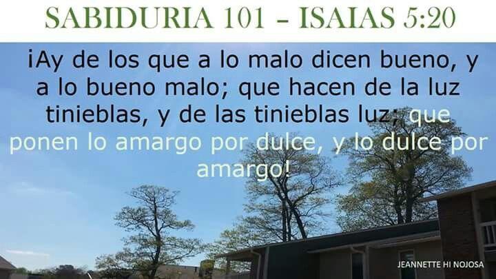ISAIAS 5:20