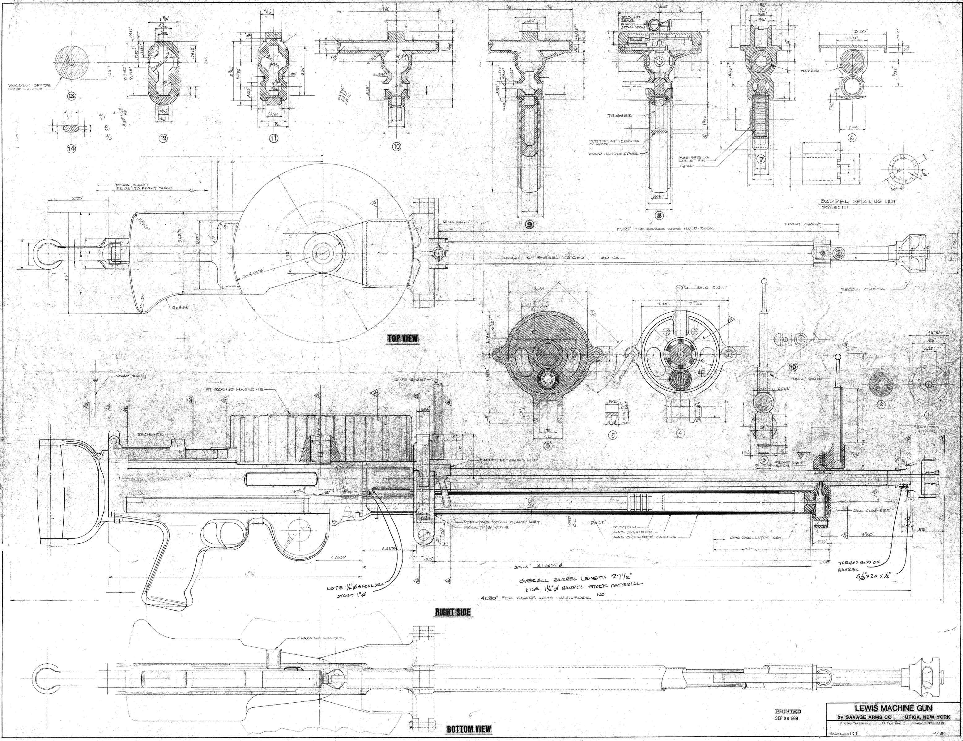 Lewis machine gun blueprint pinterest lewis machine gun blueprint malvernweather Image collections