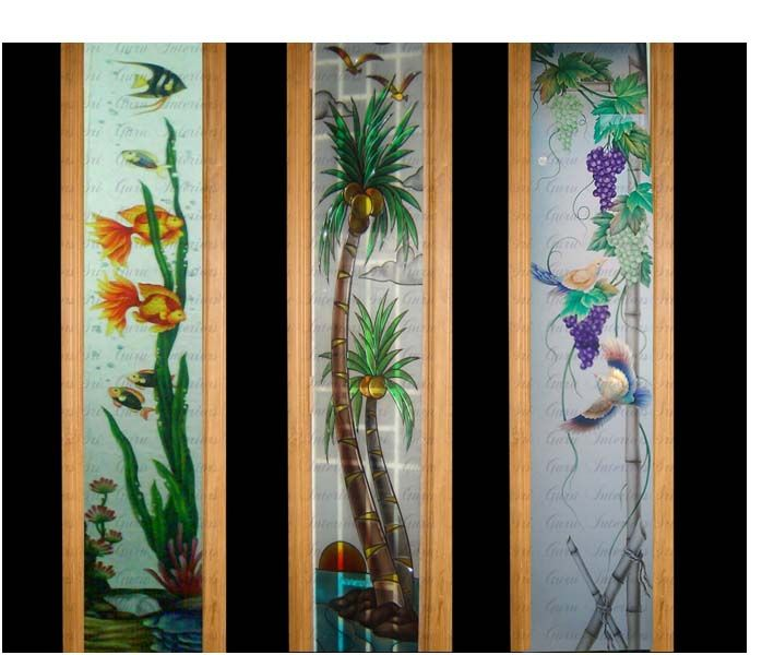lovely door glass painting designs good ideas