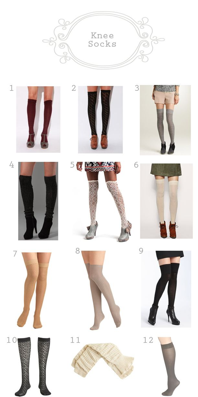 cba6b202b Ways to wear knee-socks Calcetines, Medias, Disenos De Unas, Como Usar