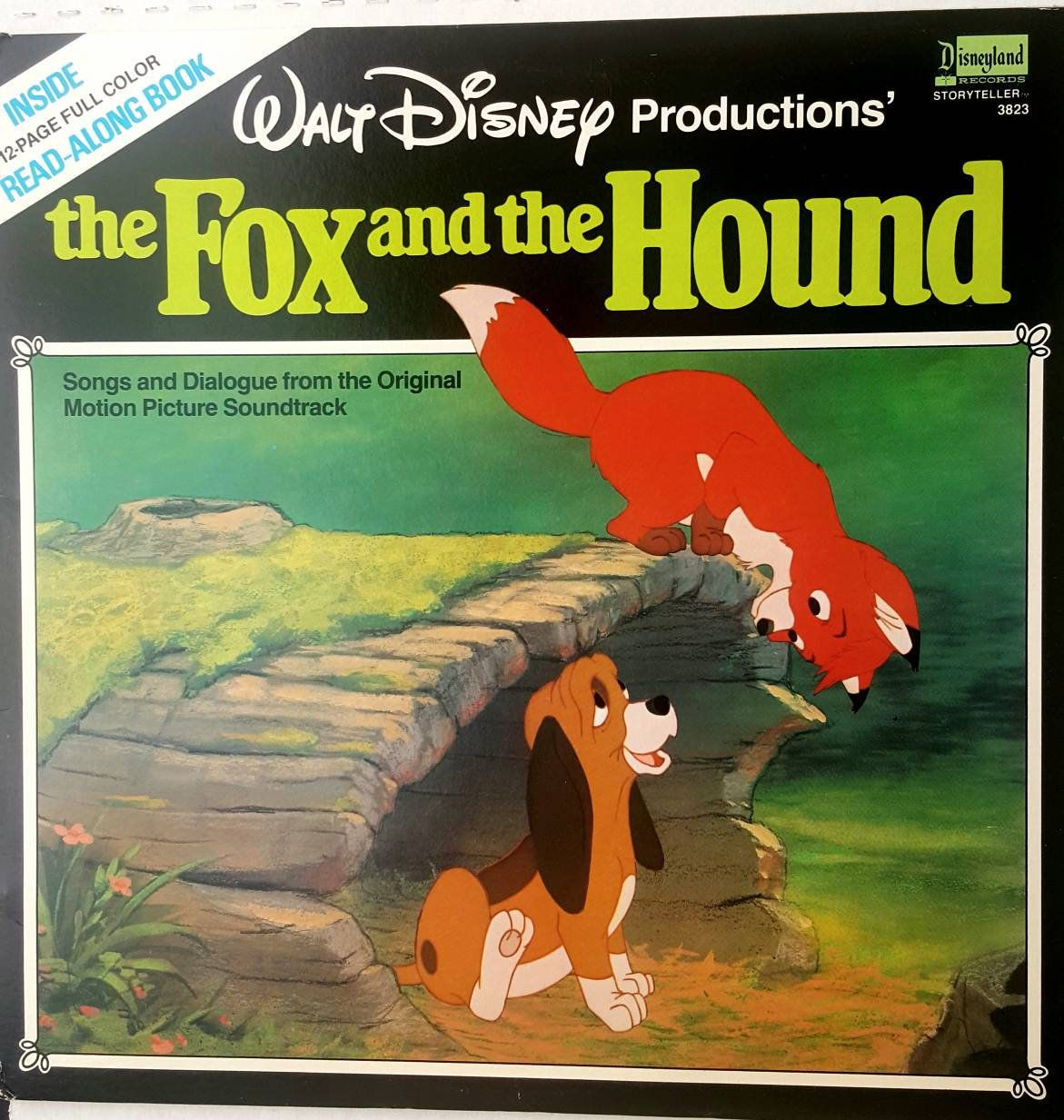 Walt Disney Fox and the Hound, book and record. 1981 by