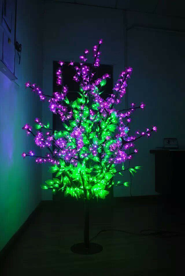 1 5m 5ft Height Outdoor Waterproof Artificial Christmas Tree Light 480pcs Leds Pink Flower Green Leaf New Home De Holiday Lights Holiday Decor Christmas Tree
