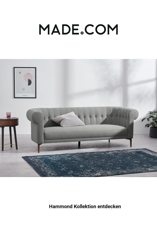 Made Sofa Grau In 2020 Sofa 3 Seater Sofa Furniture