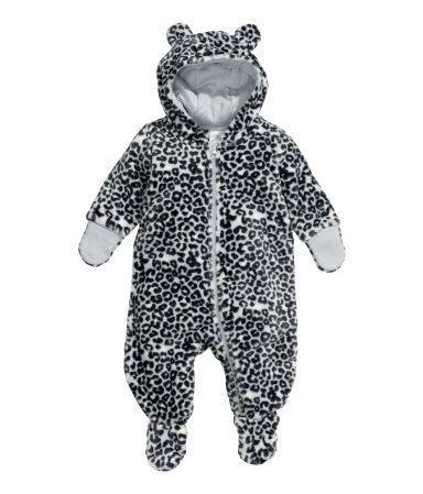 Baby Girls Boys Unisex Sleepsuit Leopard Style With Hood 6-9 Months