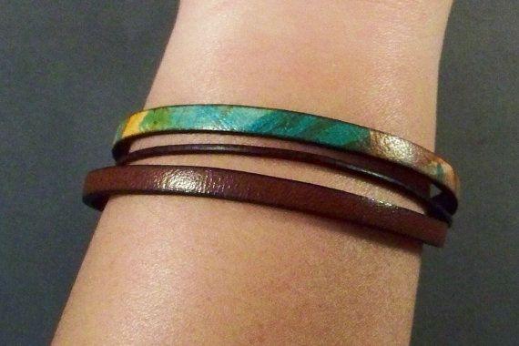 Leather Bracelet Women's Leather Bracelet by 4MLeatherDesign