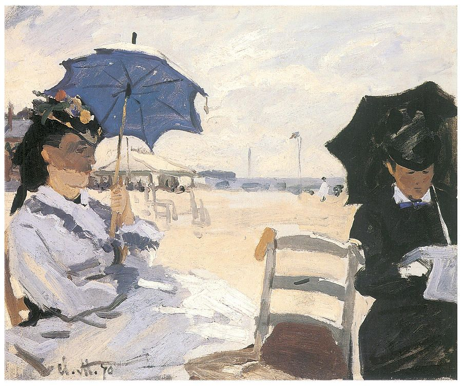 The Beach at Trouville - most famous painting