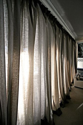 Curtain Wall Sheer Linen In 3 Color Ways Linen Curtains