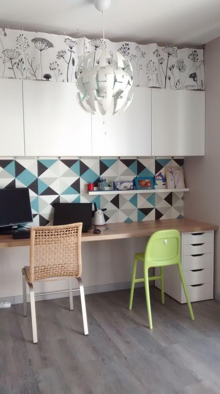 aménagement d'un coin bureau - plan de travail lm, mix de meubles