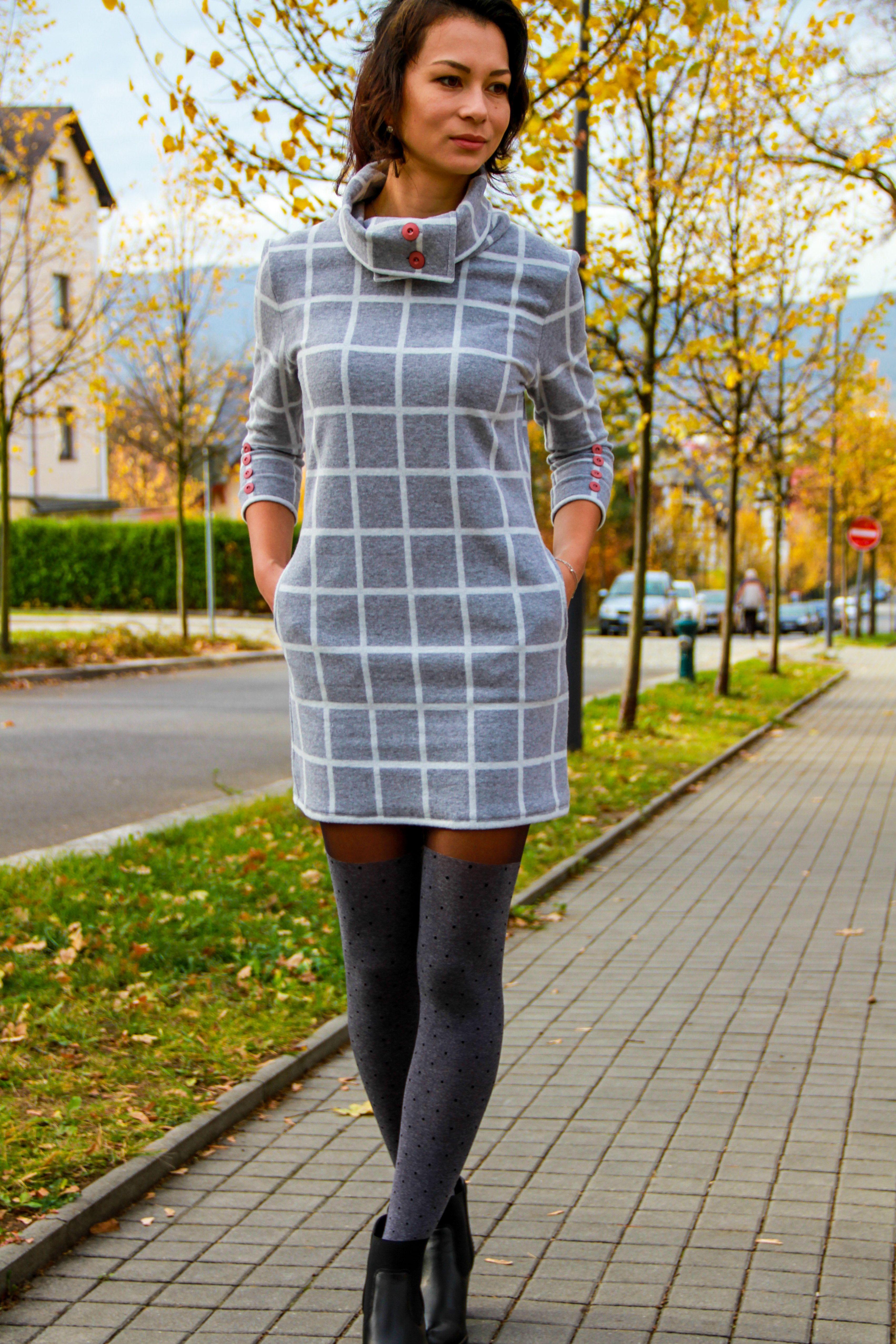 425e1f78e113 Střih na dámské podzimní šaty   mikinošaty LUCKY YOU (velikosti 32 ...