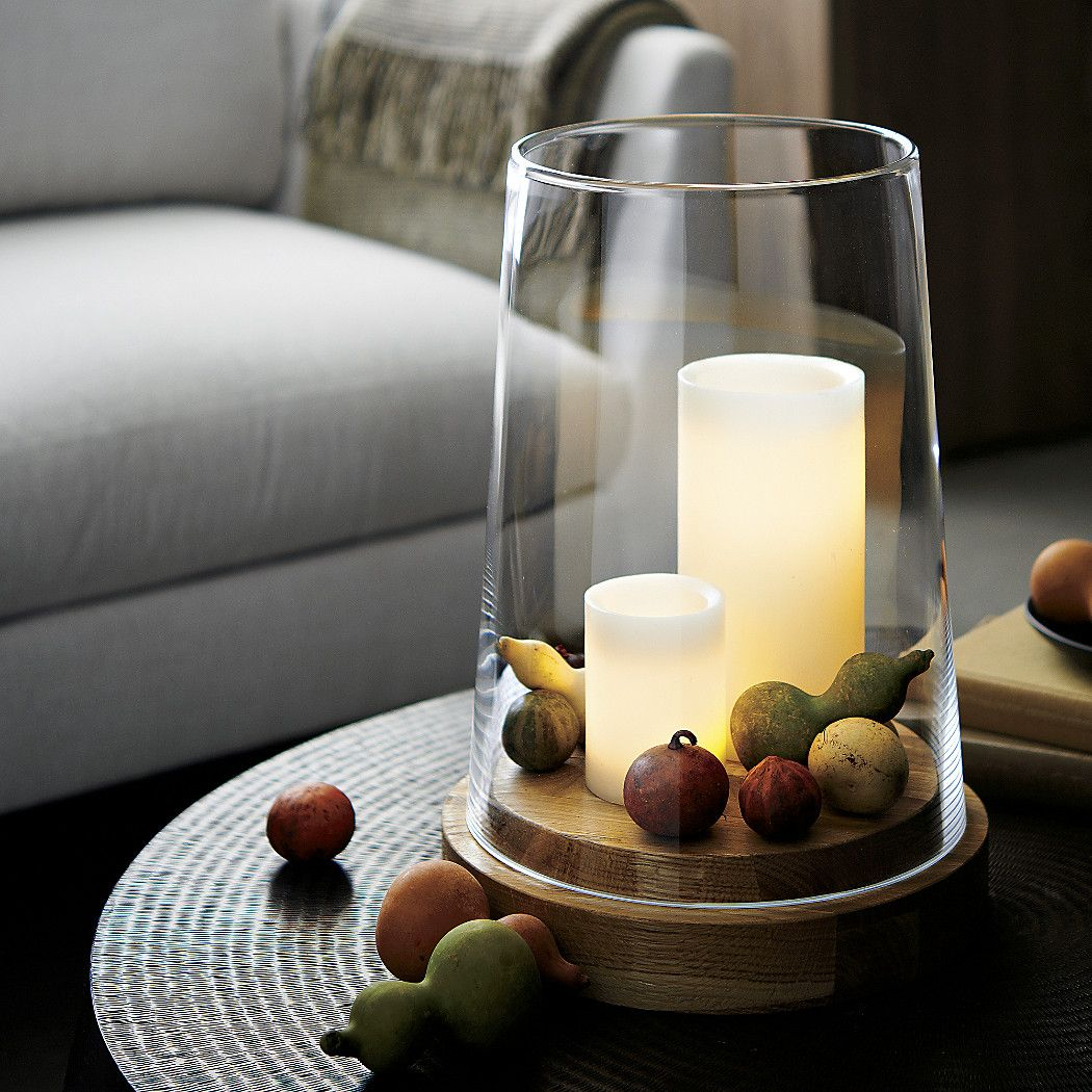 Shop Ellery Extra Large Hurricane Candle Holder Handcrafted Tapered Glass Hurricane Makes A Clea Hurricane Candle Holders Candle Holders Large Candle Holders