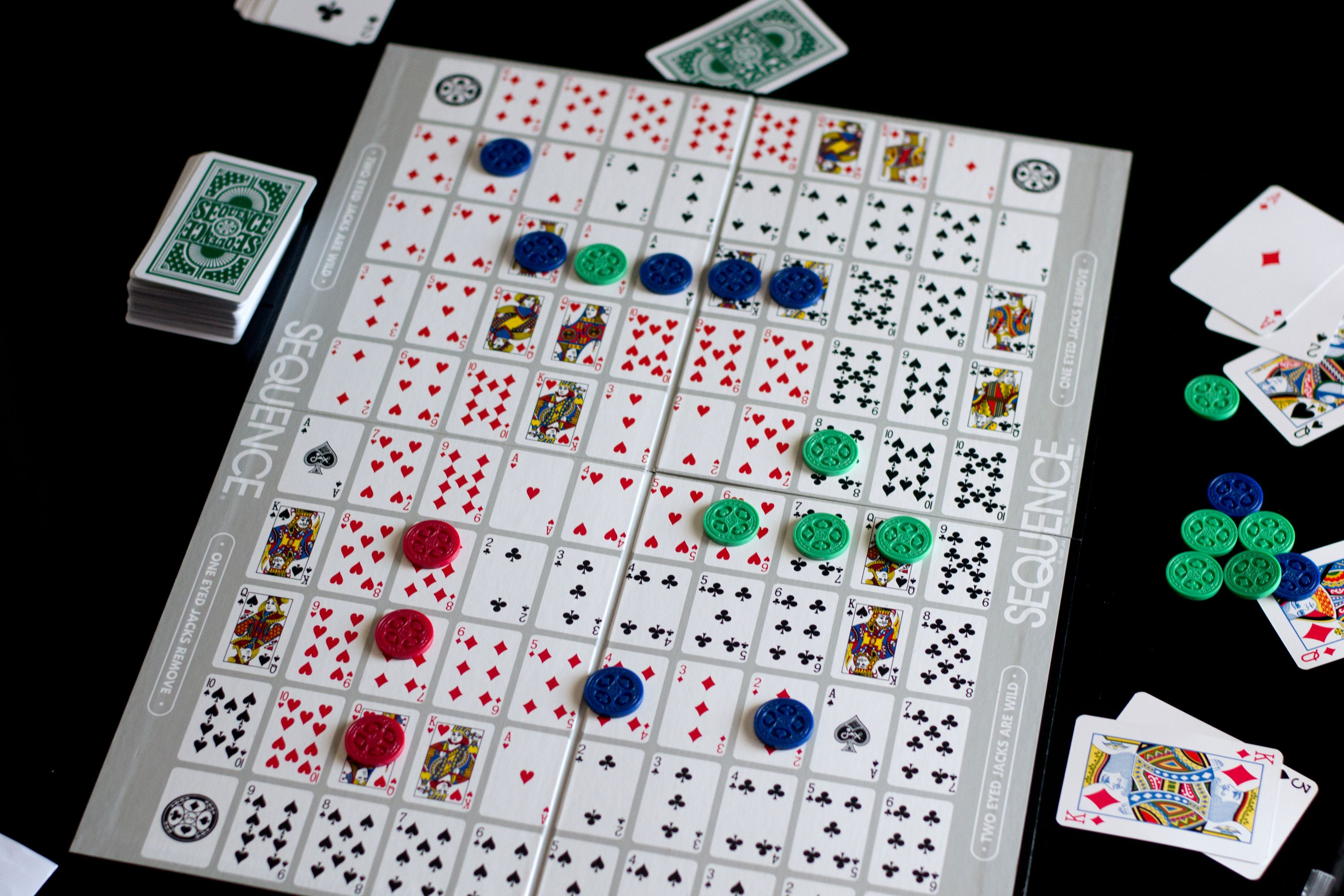 Sequence Card Game Rules Card games, Sequence game, Games