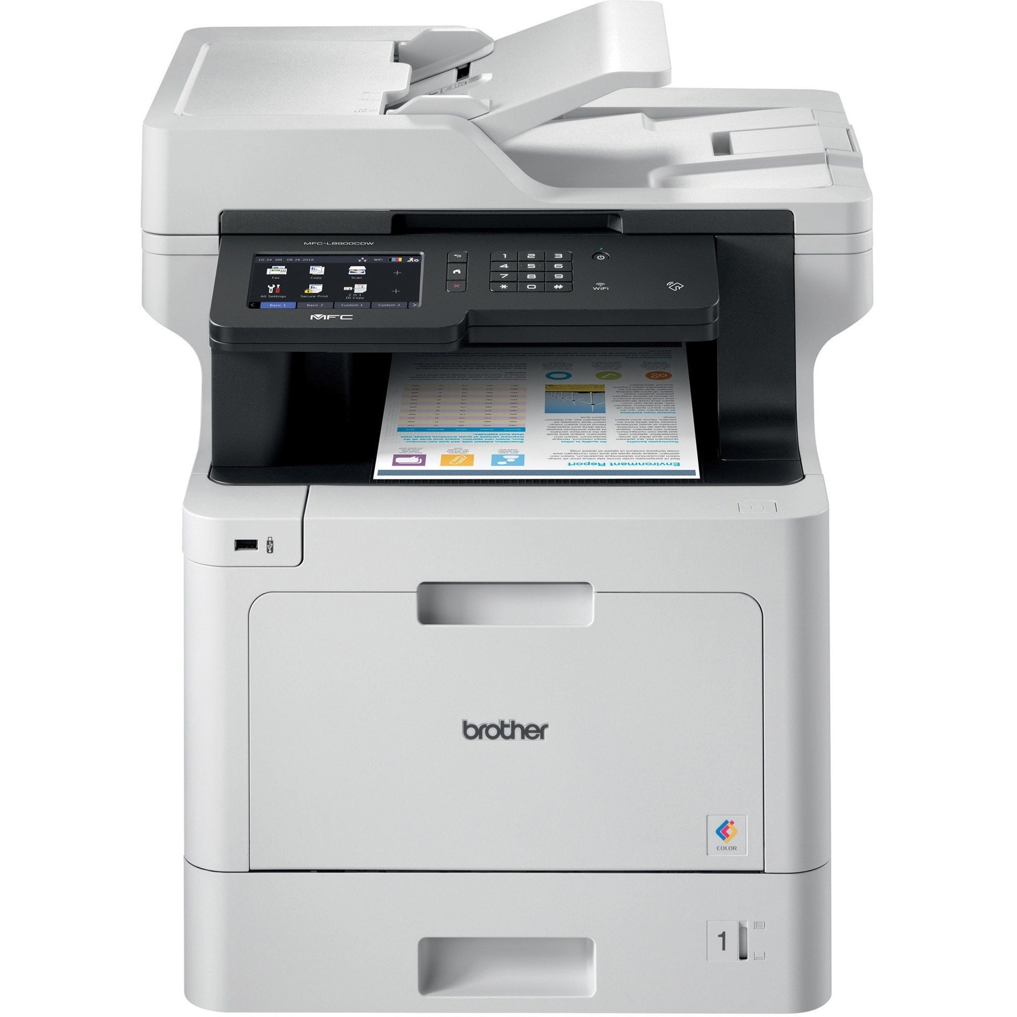 Brother Business Color Laser All In One Duplex Print Wireless Networking Products In 2019 Multifunction Printer Brother Printers Printer Scanner Copier
