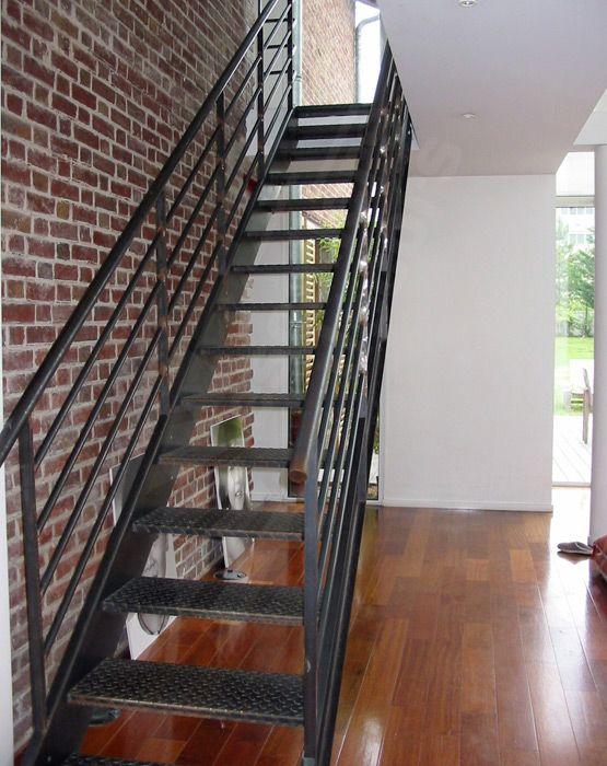 Photo Dt34 Esca Droit Escalier Droit Metal Au Design