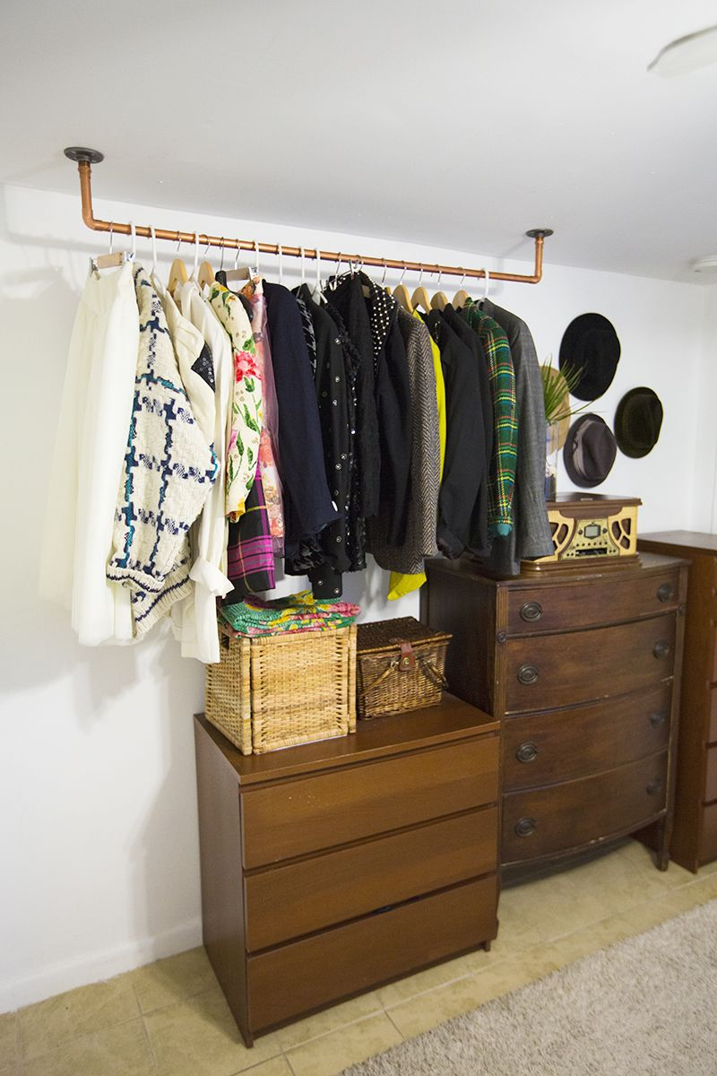 Conquer Clothing Storage With These 6 Strategies is part of Clothes Rack Ceiling - Admittedly, I have an ample closet, and I am aware of how lucky I am to have such an amenity, though this hasn't always been the case
