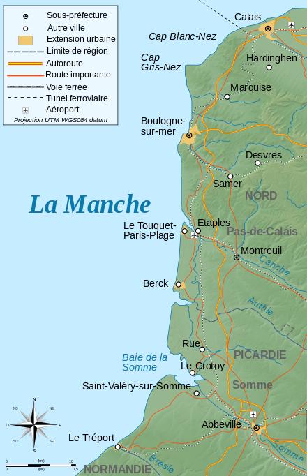 cote d opale carte Carte de la Côte d'Opale (avec images) | Touquet paris plage