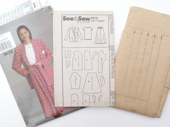 Jacket Skirt Top Pattern Loose Fitting Office by WildPlumTree, $3.00