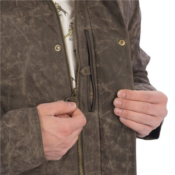 Barbour Cranbourne Jacket Beeswax Waxed Cotton For Men In Olive Waxed Cotton Barbour Cotton