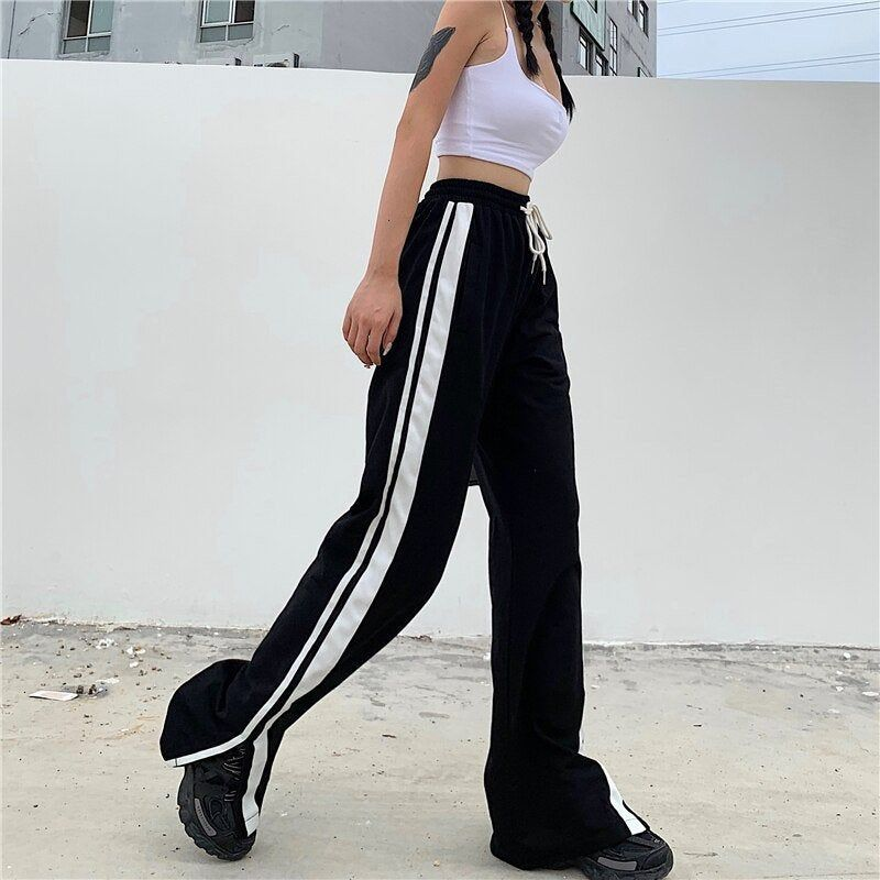 Vintage 90s Checkerboard Black and White High Waisted Pants Straight Leg Size M FREE SHIPPING
