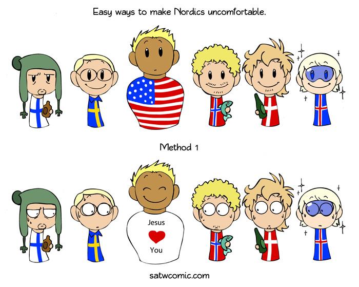 The Easy Way Satw Comic Scandinavia Funny Comics