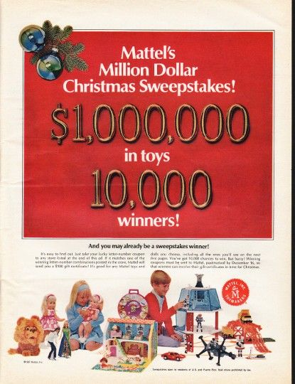 Toy sweepstakes