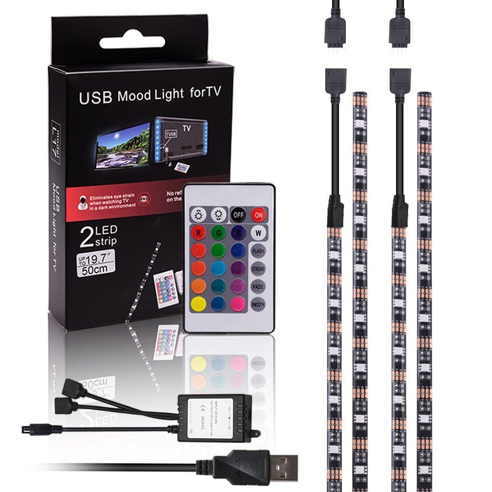 MICTUNING USB TV Backlight Strip with Remote