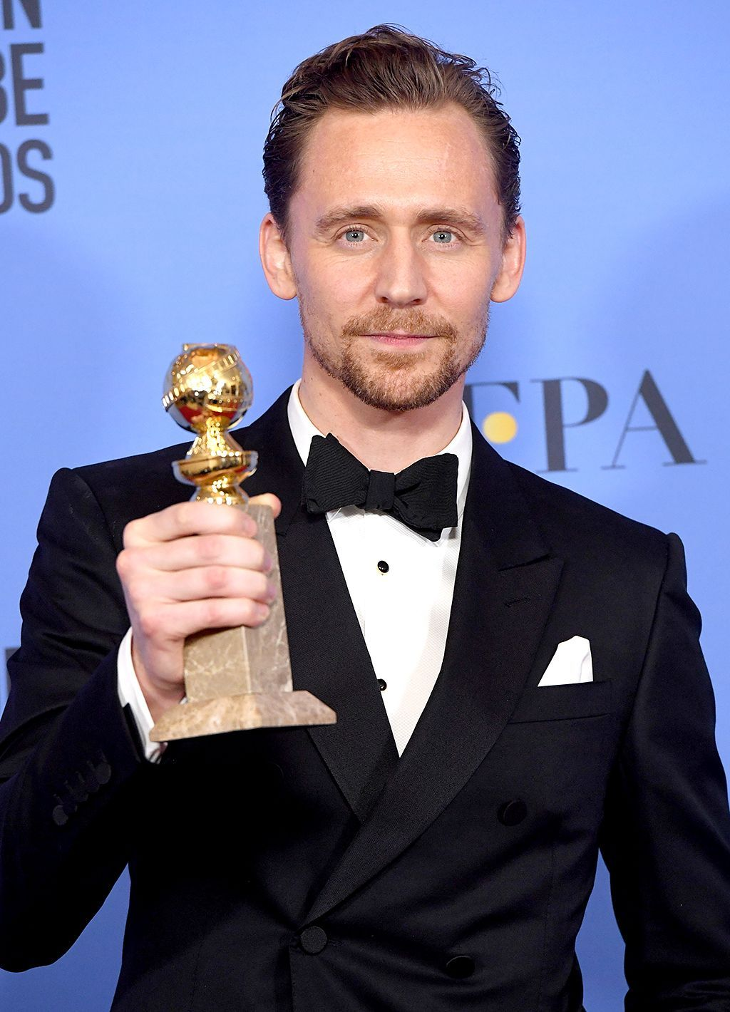 Tom Hiddleston's Golden Globes celebration sure ended swiftly.
