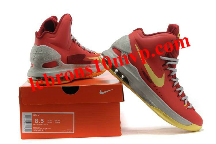 brand new 46ae9 64e0e Nike KD V Bright Crimson Volt Wolf Grey 554988 610