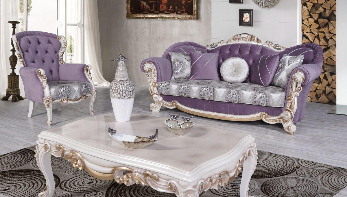 Luks Elfida Klasik Koltuk Takimi Sofa S