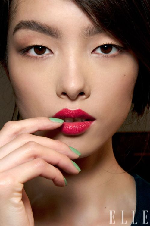 Mint & Raspberry lips #makeup #asian #beauty