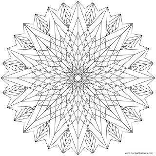Star Mandala To Color Geometric Coloring Pages Mandala Coloring Books Mandala Coloring