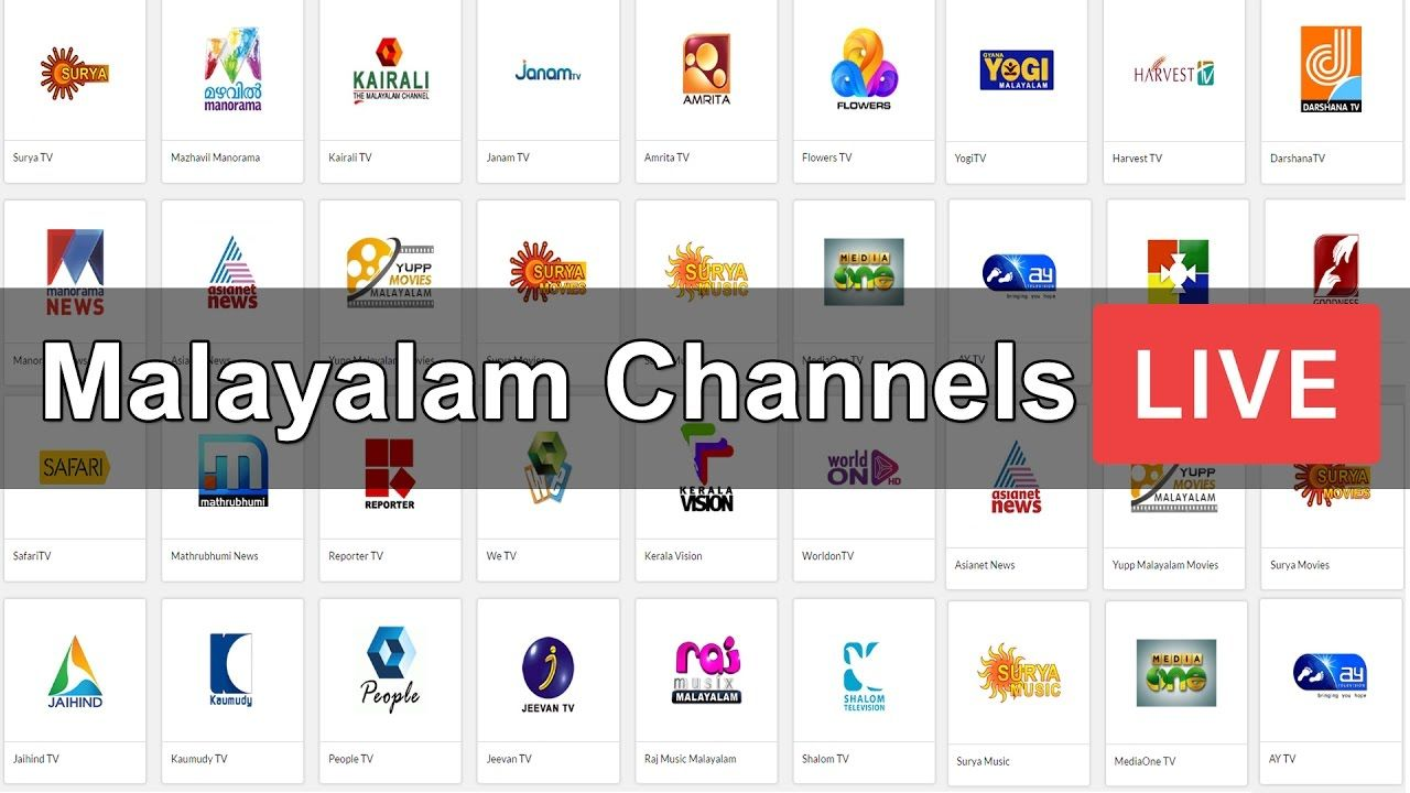 Catch all Popular Malayalam TV Channels Live on High Quality