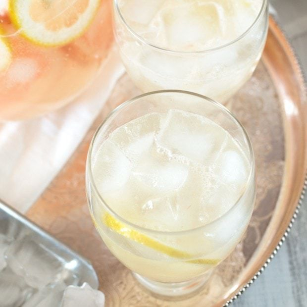 Boozy Grapefruit Sparkling Lemonade - Cake 'n Knife