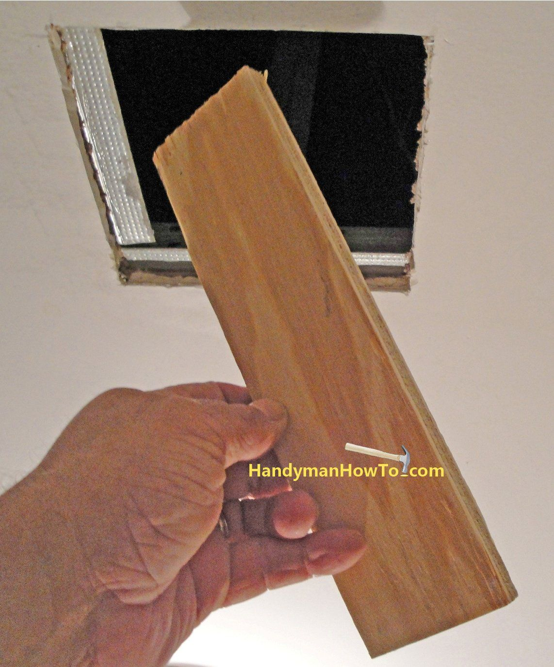 Drywall Ceiling Repair 1 2 Inch Plywood Brace Board Drywall Ceiling Repair Ceilings Drywall