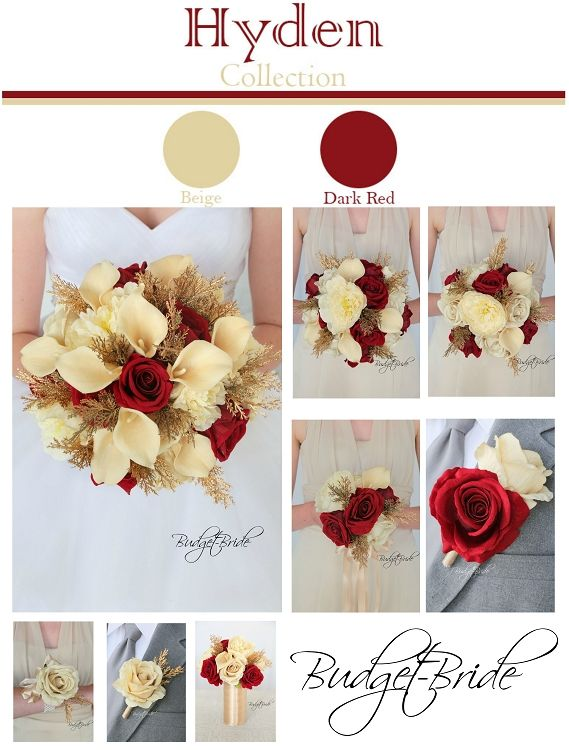 Davids Bridal Gold And Champagne Wedding Bouquet Flowers For Your Whole Plus They All Match Red Pinterest Le