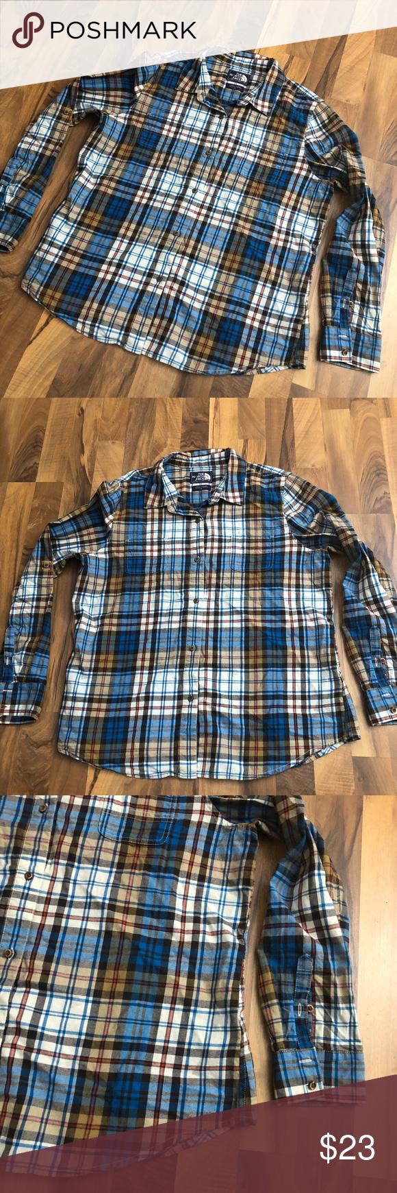 Flannel shirt women  The North Face Womenus Size XL Flannel Plaid Shirt  My Posh Closet