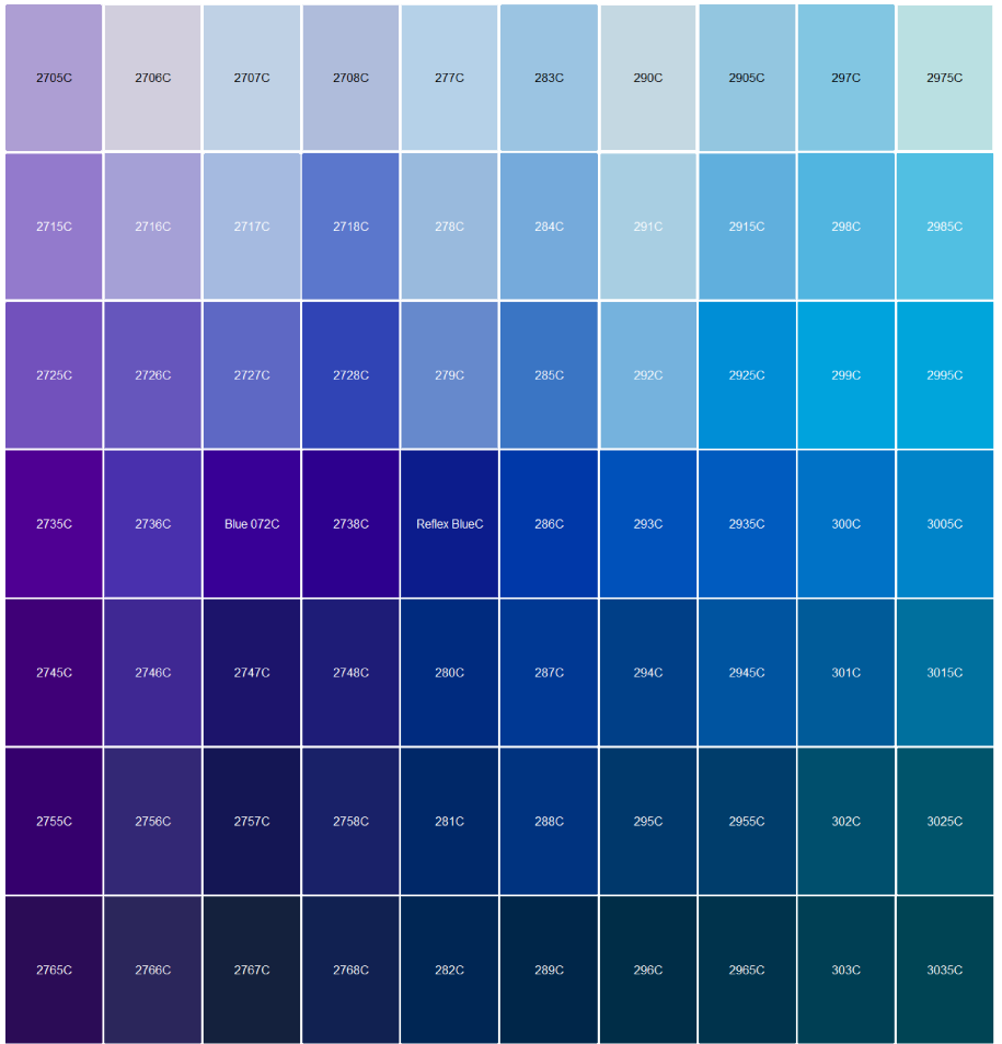 Logo Pantone Color Matching | Blue, Pink, Yellow, and White Icy ...
