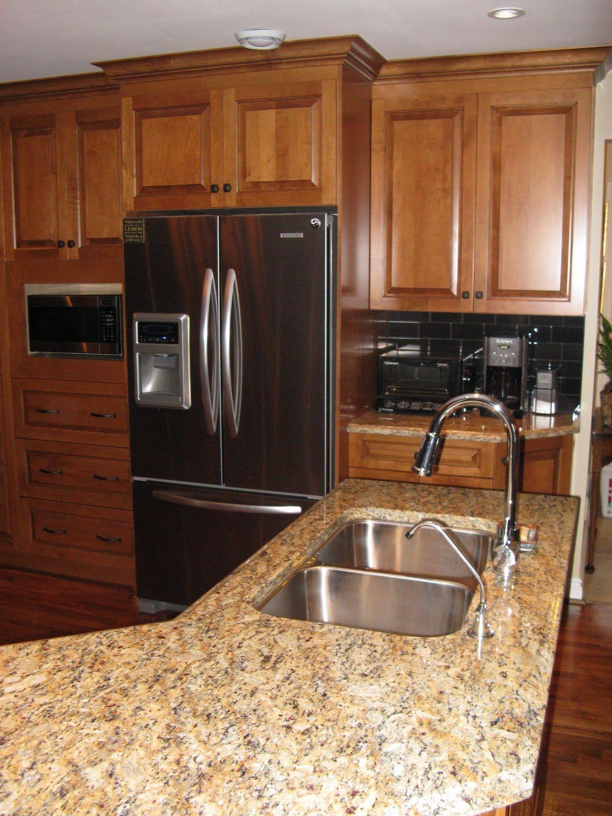 Santa Cecilia Light Granite Kitchen Maple Cognac Kitchen Cabinets Santa Cecilia Granite Counter Tops
