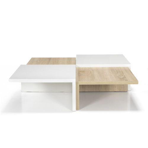 Table Basse Carree De Style Scandinave Blanc Naturel Checker Les Tables Basses Tables Basses Et Bouts Table Basse Table Basse Carree Mobilier De Salon