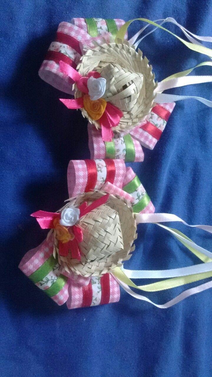 Laços para cabelo festas juninas  4318420df8c
