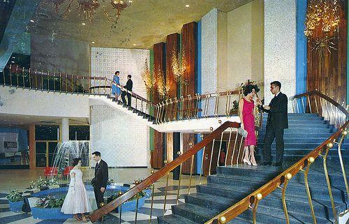 Concord Hotel Stairway Kiamesha Lake NY