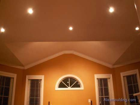 Crown Molding On Angled Ceilings Angled Ceilings Ceiling Crown Molding Moldings And Trim