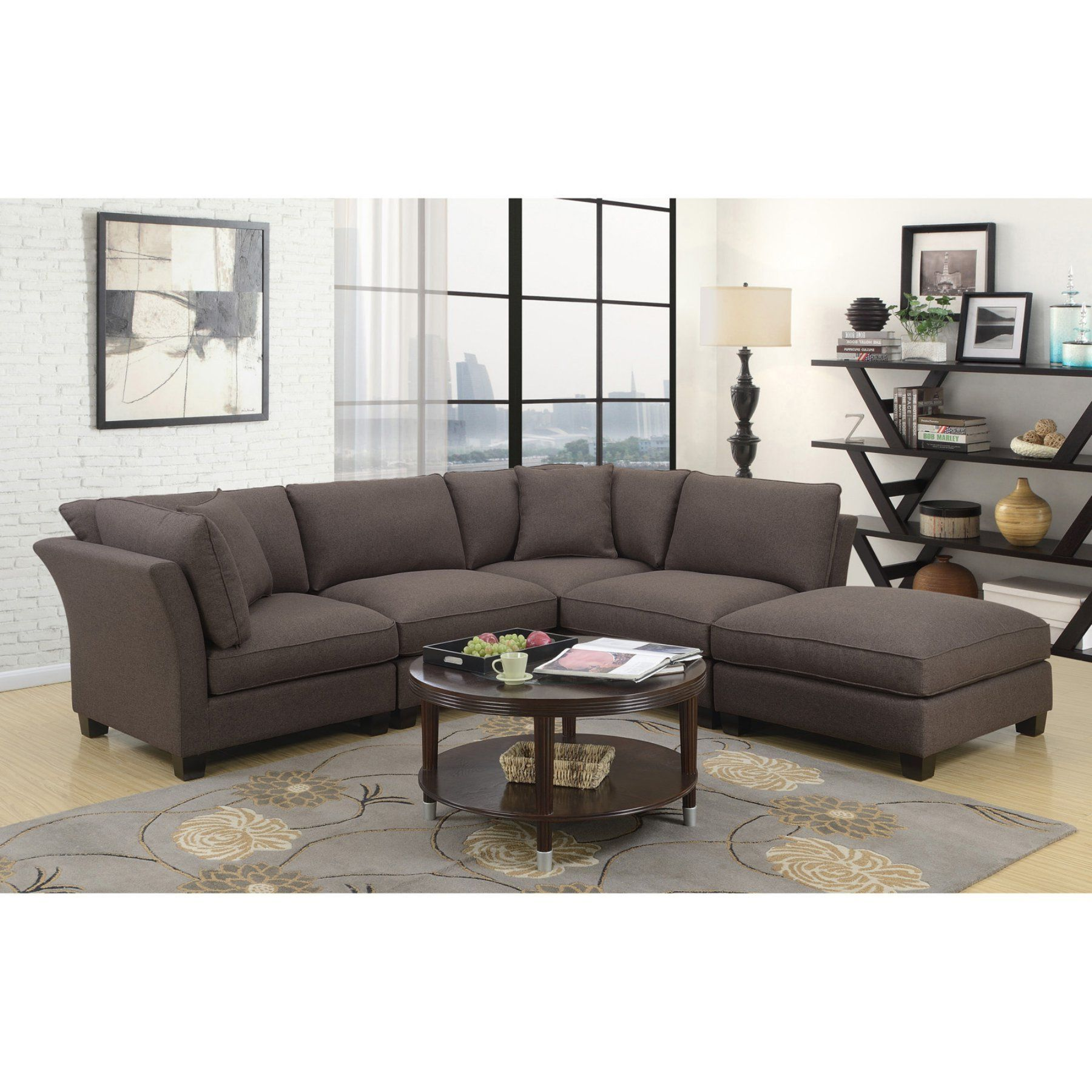 Best Emerald Home Arlington 5 Piece Sectional Sofa With 2 400 x 300