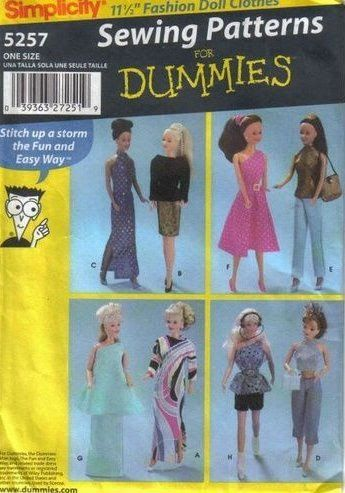 Free Barbie pattern: Simplicity 5257 Diana Gil Picasa