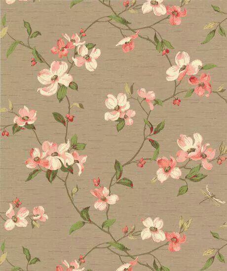 Vintage Floral Wallpaper Nice For Our Masterbedroom