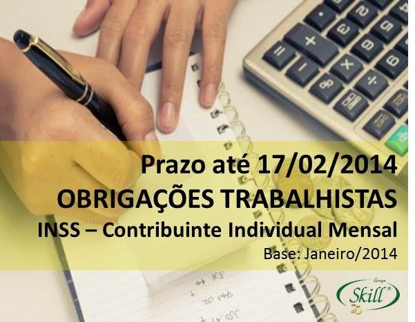 Confira as obrigações fiscais trabalhistas que vencem 17/02.