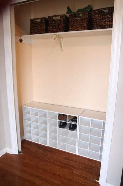 Target Closetmaid Shoe Cubbies Entry Closet Closet Remodel