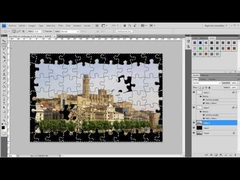 Como Hacer El Efecto Puzzle En Photoshop Photoshop Cómo Hacer Scrapbooking Digital