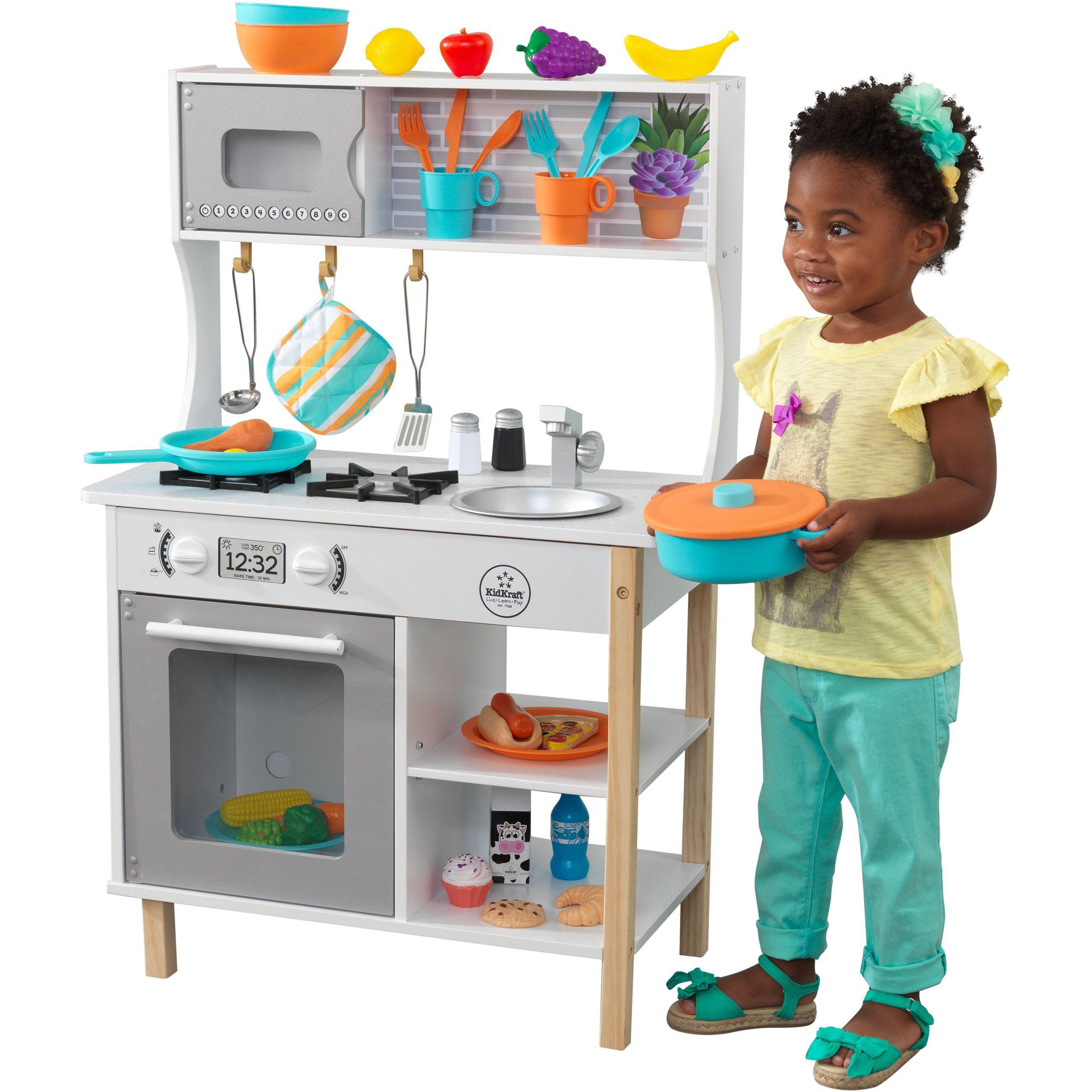 Drewniana Kuchnia Dla Dzieci 39 Akces Kidkraft Brykacze Pl Internetowy Sklep Z Zabawkami Dla Dzieci Play Kitchen Accessories Play Kitchen Wooden Play Kitchen