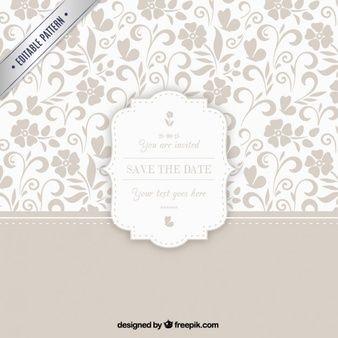 Teste padrão decorativo com emblema do casamento
